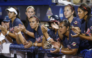 Arizona's softball team could be coming to Oklahoma for more than the Women's College World Series if the Pac-10 expands and takes Oklahoma and Oklahoma State. AP PHOTO