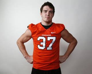 Oklahoma State's Alex Elkins is seeing his hard work pay off on the field. Photo by Nate Billings, The Oklahoman