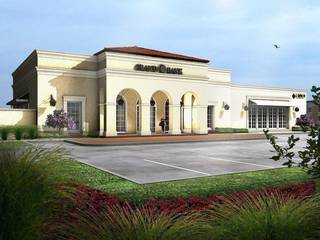 A rendering of a new 6,840 square foot bank buildng that Tulsa-based Grand Bank is constructing in Bixby.