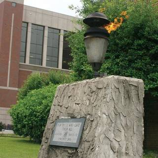 The eternal flame at the Rogers County Courthouse in Claremore is being temporarily relocated until its new local is prepared. (Claremore Daily Progress reported)