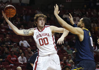 OU's Ryan Spangler led Bridge Creek to unprecedented success, and he's helped the Sooners reach the Big 12 Tournament as the No. 2 seed. Photo by Chris Landsberger, The Oklahoman CHRIS LANDSBERGER - CHRIS LANDSBERGER