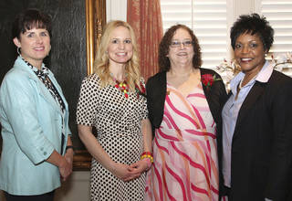 Shelly Soliz, Sherry Sage, Jan Schechter, state Sen. Constance N. Johnson. PHOTO BY DAVID FAYTINGER, FOR THE OKLAHOMAN