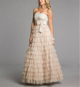 Betsy-Long blush prom dress from Windsor, $154.90. (Courtesy Windsor.com via Los Angeles Times/MCT)