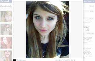 Carina B. Saunders is shown on her Facebook page on 10-17-11.