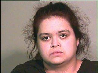Apollonia Medrano, 26, of Oklahoma City was arrested on Thursday on two complaints of child abuse after police found welts, scratches and bruises on her 11 and 10-year-old daughters. courtesy