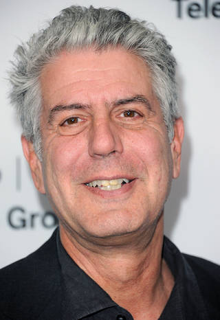 Anthony Bourdain attends the Disney ABC Winter TCA Tour at the Langham Huntington Hotel on Thursday, Jan. 10 2013, in Pasadena, Calif. (Photo by Richard Shotwell/Invision/AP) ORG XMIT: NYENT103
