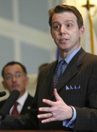 In this Tuesday, May 10, 2011 photo, Oklahoma state Sen. Mike Mazzei, R-Tulsa, is pictured in Oklahoma City. (AP Photo)