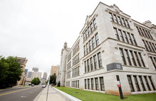 The old Central High School building is seen on Robinson Avenue in downtown Oklahoma City. Photo by Paul B. Southerland, The Oklahoman