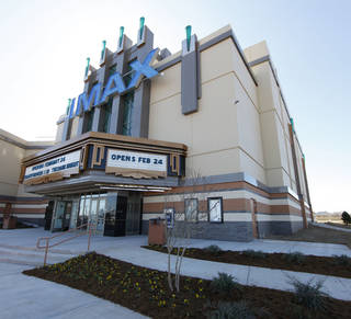 The IMAX at Warren Theatres in Moore is shown. Photo by Steve Gooch, The Oklahoman
