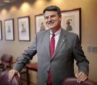 Tony Shinn, senior vice president of Bank of America, and market president for Global Commercial Banking, is seen in his downtown Oklahoma City office. Photo by Jim Beckel, The Oklahoman Jim Beckel - THE OKLAHOMAN