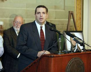 Oklahoma State Senator Clark Jolley speaks at a press conference at the State Capitol in Oklahoma City, OK, Thursday, Oct. 27, 2011, about a new law taking affect next Tuesday which will impose tougher penalties on DUI offenders. By Paul Hellstern, The Oklahoman ORG XMIT: KOD