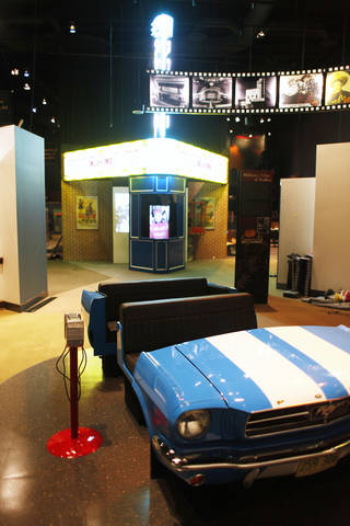 Displays at the Oklahoma @ The Movies exhibit at the Oklahoma History Center Friday, May 4, 2012. Photo by Doug Hoke, The Oklahoman