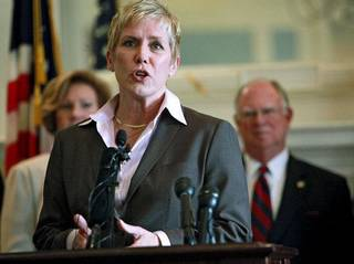 Oklahoma State Superintendent of Public Instruction Janet Barresi speaks during a press conference on education reform in The Blue Room at the Oklahoma State Capitol in Oklahoma City on Wednesday, March 30, 2011. Photo by John Clanton, The Oklahoman ORG XMIT: KOD