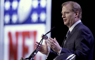 NFL Commissioner Roger Goodell wants an 18-game schedule. AP photo