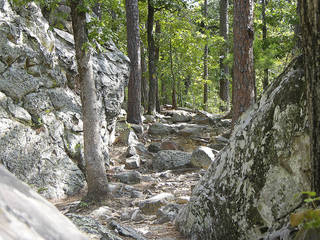 Robbers Cave State Park has several trails for hikers. Photo provided by Oklahoma Tourism ORG XMIT: 0810161735489196