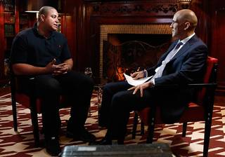 TODAY -- Pictured: (l-r) Jonathan Martin, Tony Dungy -- (Photo by: Peter Kramer/NBC)