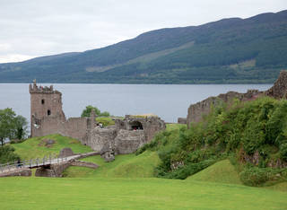 The evocative ruins of Scotland's Urquhart Castle overlook Loch Ness (monster sightings possible). (Photo by Dominic Bonuccelli)