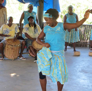 A shore excursion to Roatan Island showcases the dance and music of the Garifuna people. Photo by Wesley K.H. Teo.