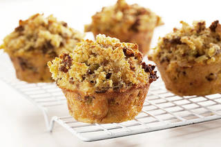 Thanksgiving dressing converts beautifully and efficiently into muffins. - PROVIDED