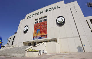 The exterior of the Cotton Bowl, where Oklahoma State will play in the Heart of Dallas Bowl game. PHOTO BY CHRIS LANDSBERGER, The Oklahoman Archives CHRIS LANDSBERGER