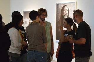 Attendees of the What Works/What Doesn?t workshop on May 11 gather in the gallery at Oklahoma Contemporary to continue networking. The workshop was a preview of the material to be covered in the 8 week Artist INC course coming to Oklahoma City this fall. Photo provided.