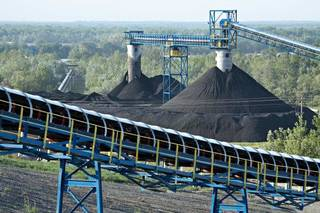 Coal is stockpiled at Alliance's River View operation in Kentucky in 2010. - provided