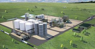 An artist's rendering of a canola processing plant planned for Enid. Photo provided