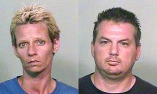Left: Jodi George, 38, and Derrick Allred, 39. Photos provided