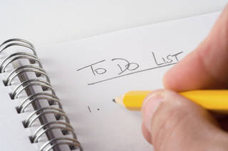If you want a successful morning, you must plan. Create a to-do list the night before, and prioritize the tasks you need to accomplish first. If you don't have any type of plan, it is much more tempting to sit around or sleep in. A plan provides motivation and determination to get something done. (©istockphoto.com/OvertheHill)