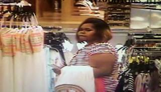 Pictured is this screen grab from the surveillance video is one of two women Oklahoma City police say they are searching for in connection with the theft of dozens of watches. Police ask anyone recognizing this woman to call Crime Stoppers at 235-7300. Photo provided PROVIDED