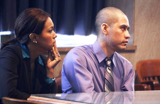 Fulgencio Lopez, who was found guilty in the 2011 death of woman, appears before District Judge Donald L. Deason at the Oklahoma County Courthouse. Photo by Paul Hellstern, The Oklahoman