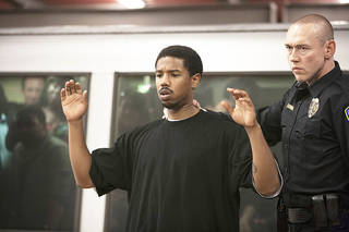 """Michael B. Jordan, left, and Kevin Durand, right, in a scene from the film, """"Fruitvale Station."""" WEINSTEIN COMPANY PHOTO Ron Koeberer"""