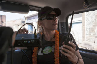 """Director Kathryn Bigelow on the set of """"Zero Dark Thirty."""" COLUMBIA PICTURES PHOTO"""