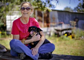 Marijuana legalization activist Norma Sapp poses for a photo at her home Monday in Little Axe. Sapp has been an advocate for marijuana legalization for the past 26 years in Oklahoma. CHRIS LANDSBERGER - CHRIS LANDSBERGER