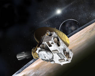 Artist concept of New Horizons spacecraft. Credit: Johns Hopkins University Applied Physics Laboratory/Southwest Research Institute. Photo courtesy of NASA