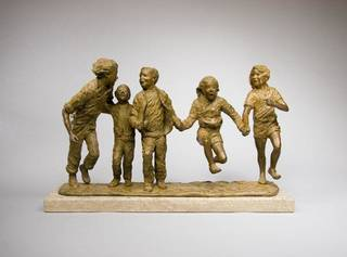 """On display through June 30 at JRB Art at The Elms is """"Jump for Joy,"""" a sculpture by Glenna Goodacre. Matt Suhre Photography"""