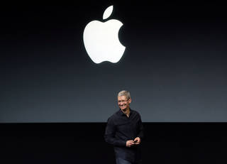 Apple CEO Tim Cook speaks Sept. 10 on stage before a new product introduction in Cupertino, Calif. AP File Photo Marcio Jose Sanchez - AP
