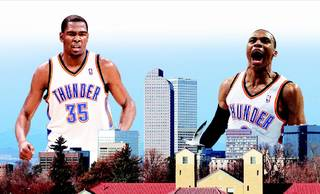 Kevin Durant, left, and Russell Westbrook.
