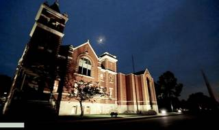 The Oklahoma Commerce Department is haunted, several employees claim. The agency is at 900 N Stiles near downtown Oklahoma City in a renovated church. Photo by TANNER HERRIOTT, The Oklahoman