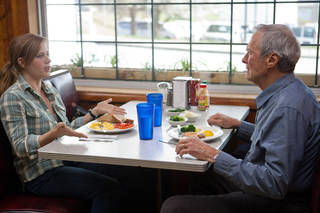 """Amy Adams and Clint Eastwood are a father and daughter with a stormy relationshp in """"Trouble with the Curve."""" WARNER BROS. PHOTO"""