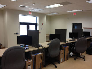A workspace inside the new port of entry weigh station on Interstate 35. - PROVIDED