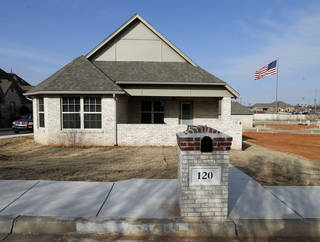 First Oklahoma Construction built this home at 120 Boulevard Du Lac in the Summit Lake Villas addition in Norman. Photo by Steve Sisney, The Oklahoman STEVE SISNEY - THE OKLAHOMAN