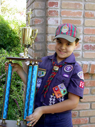 Top popcorn salesman for 2011 was Cub Scout Bogan Garcia. Photo provided by Dana Garcia