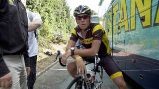 """Cyclist Lance Armstrong seen in the documentary """"The Armstrong Lie."""" Sony Pictures Classic"""