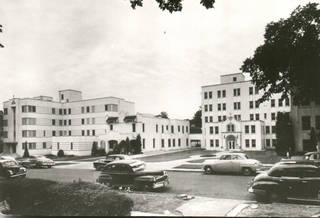 This vintage photo shows Oklahoma City General Hospital, the medical facility at 520 NW 12 that was purchased by the Sisters of Mercy in 1947. The hospital was renamed Mercy General Hospital. Photo provided by Sisters of Mercy
