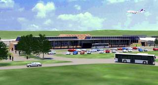 This drawing shows what a consolidated rental car facility to be built near Will Rogers World Airport. The Oklahoma City Council Tuesday authorized funding for the project, which is expected to be complete in the spring of 2015. PROVIDED