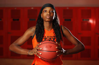 OSU women's college basketball player Toni Young (15) poses for a portrait at Oklahoma State University in Stillwater, Okla., Thursday, Oct. 27, 2011. Photo by Nate Billings, The Oklahoman ORG XMIT: KOD