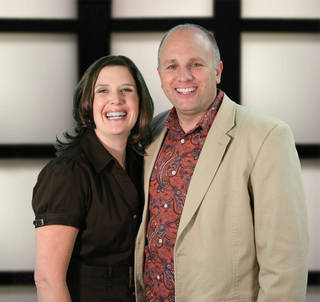 The Rev. Ted Miller, shown with his wife, Tami, is pastor of Crossroads Church . Photo provided