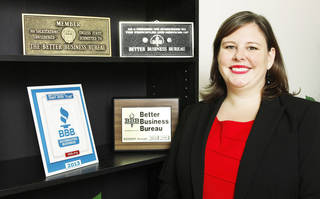 Kitt Letcher, president and CEO of the Better Business Bureau of Central Oklahoma, at the Better Business Bureau of Central Oklahoma offices in downtown Oklahoma City Tuesday, July 23, 2013. Photo by Paul B. Southerland, The Oklahoman