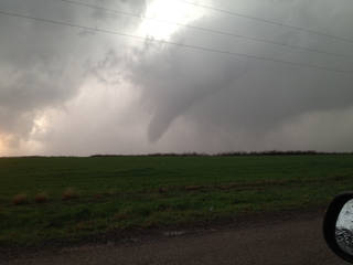 Tornado near Willow, OK, on Sunday, March 18, 2012. Photo contributed by Jason Holden.